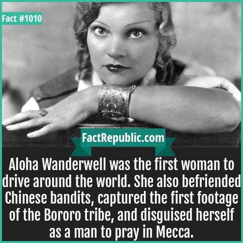1010. Aloha Wanderwell-When Lyudmila Pavlichenko, a Soviet sniper, was being promoted for 257 confirmed kills against the invading Germans, her acceptance speech was simply 'I'll get more'.